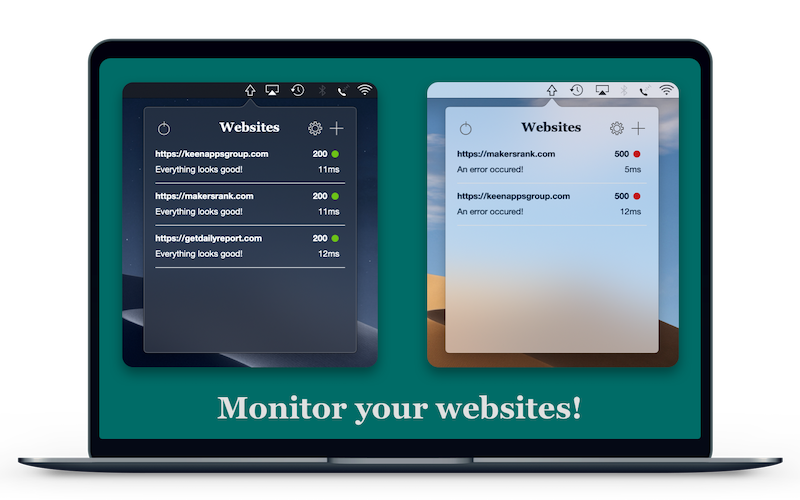Monitor your websites all day with Web Ping